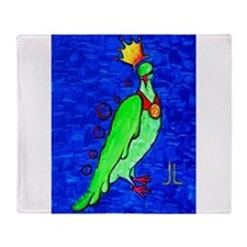 Cute Expressionist art Throw Blanket