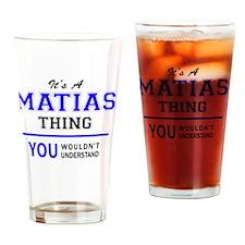 Cute Matias Drinking Glass
