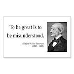 Ralph Waldo Emerson 14 Rectangle Sticker
