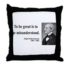 Ralph Waldo Emerson 14 Throw Pillow