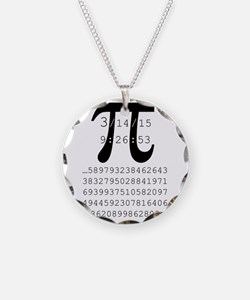 Cute Pi Necklace Circle Charm