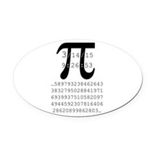 Cute Pi Oval Car Magnet