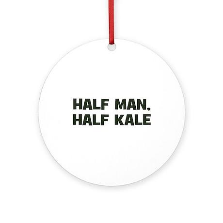 half man, half kale Ornament (Round)