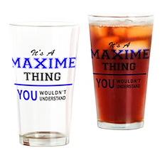 Funny Maxim Drinking Glass