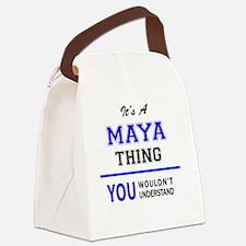 Cute Maya Canvas Lunch Bag