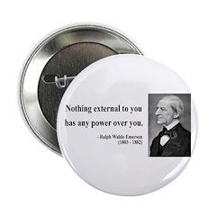 "Ralph Waldo Emerson 15 2.25"" Button (10 pack)"