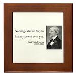 Ralph Waldo Emerson 15 Framed Tile