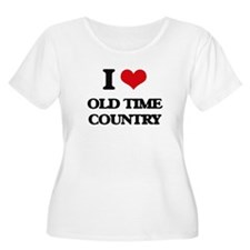 I Love OLD TIME COUNTRY Plus Size T-Shirt