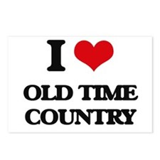 I Love OLD TIME COUNTRY Postcards (Package of 8)