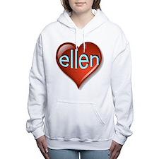 Love ellen Heart Women's Hooded Sweatshirt