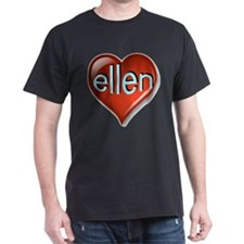 Love ellen Heart T-Shirt