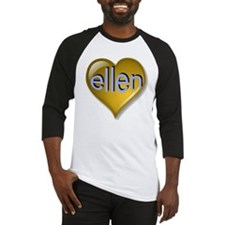 Love ellen Golden Heart Baseball Jersey