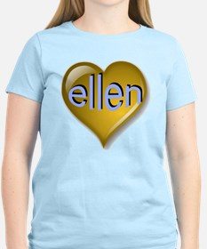 Love ellen Golden Heart T-Shirt