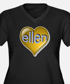Love ellen G Women's Plus Size V-Neck Dark T-Shirt