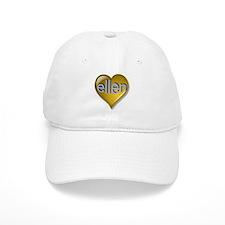 Love ellen Golden Heart Baseball Cap