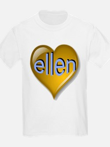 Love ellen Golden Heart T-Shirt