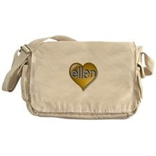 Love ellen Golden Heart Messenger Bag