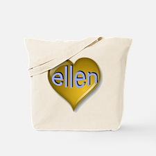 Love ellen Golden Heart Tote Bag
