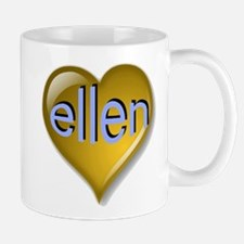 Love ellen Golden Heart Mug