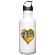 Love ellen Golden Hear Water Bottle