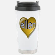 Love ellen Golden Heart Travel Mug