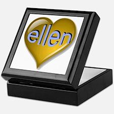 Love ellen Golden Heart Keepsake Box
