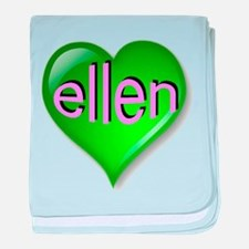 Love ellen Emerald Heart baby blanket