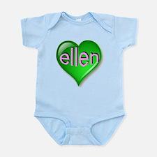 Love ellen Emerald Heart Infant Bodysuit