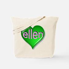 Love ellen Emerald Heart Tote Bag