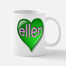 Love ellen Emerald Heart Mug