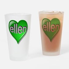 Love ellen Emerald Heart Drinking Glass