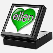 Love ellen Emerald Heart Keepsake Box