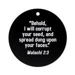 Malachi 2:3 Ornament (Round)