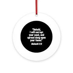 Malachi 2:3 Ornament (Round)