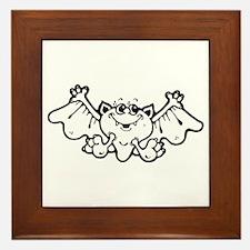 Silly Bat Framed Tile