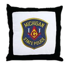 Michigan State Police Mason Throw Pillow