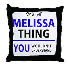 Cute Melissa Throw Pillow