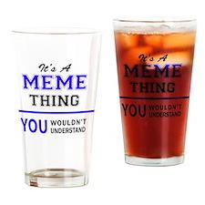 Cute Meme Drinking Glass