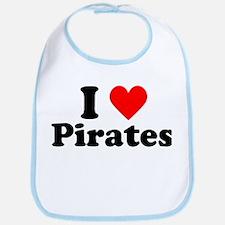 I Heart Pirates Bib