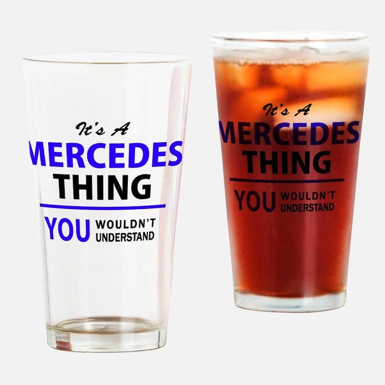 Cute Mercedes Drinking Glass