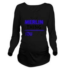 Unique Merlin Long Sleeve Maternity T-Shirt