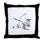 Injun Scribe Throw Pillow