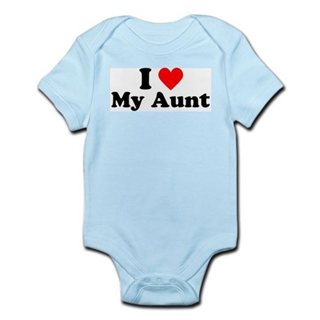 I Heart My Aunt Infant Bodysuit