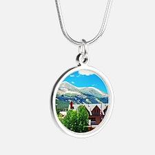 Breckenridge in July Silver Round Necklace
