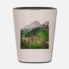 Crested Butte Wildflowers - Purple Shot Glass