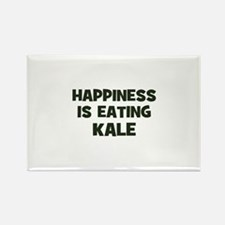 happiness is eating kale Rectangle Magnet (100 pac