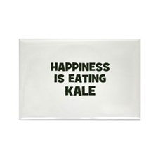 happiness is eating kale Rectangle Magnet (10 pack