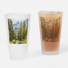 Mountain River Scene Drinking Glass