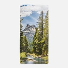 Mountain River Scene Beach Towel