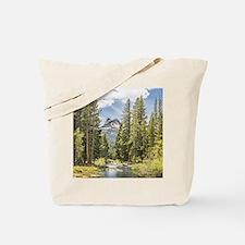 Mountain River Scene Tote Bag